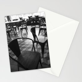 Vintage Parisian cafe - Black and white no people photography Stationery Cards