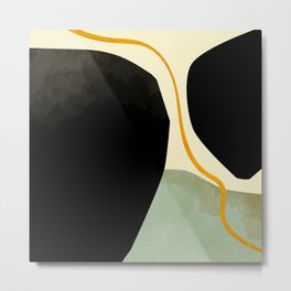 shapes organic mid century modern Metal Print