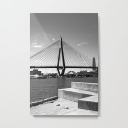 Anzac Bridge Sydney, Black and White  Metal Print