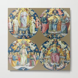 "Raffaello Sanzio da Urbino ""Ceiling Of The Stanza Dell Incendio Del Borgo"" Metal Print"