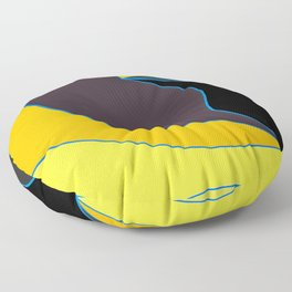 Sublime waves 2 Floor Pillow