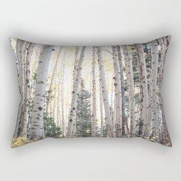 Colorado Aspen Grove in Autumn Rectangular Pillow