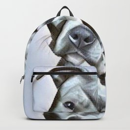 Pit Bull lover , portrait of a blue nose pit bull Backpack