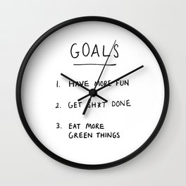 Motivational handwriting Wall Clock