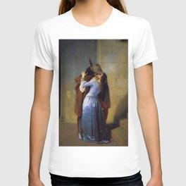 'The Kiss' at Pinacoteca di Brera by Francesco Hayez T-shirt