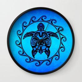 Tribal Turtle Sun Wall Clock