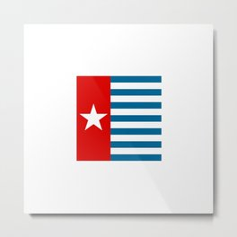 Flag of the morning star Metal Print