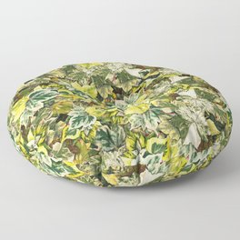 Poison Ivy Floral Leaf Pattern Floor Pillow