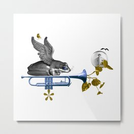 Sounds. Growth. Worlds. Metal Print