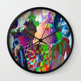 'Stellar Nervous System & Its Energetic Relay With The Multi-Verse' Wall Clock