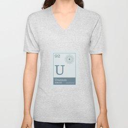 Periodic Elements - 92 Uranium (U) Unisex V-Neck