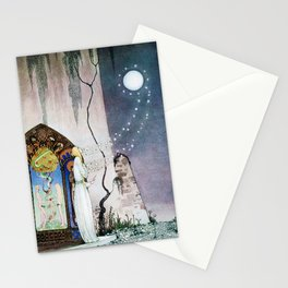 Kay Nielsen - Lassi Opens The Forbidden Open Door And Escapes The Moon Stationery Cards