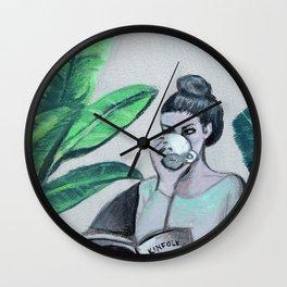 Coffee Kinfolk and Plants Wall Clock