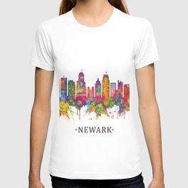 Newark New Jersey Skyline T-shirt