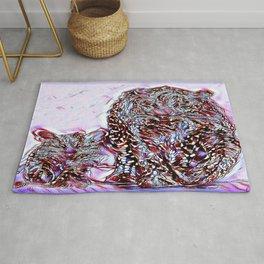 Big Cat Models: Magnified Snow Leopard and Cub 01-02 Rug