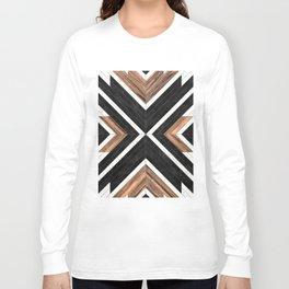 Urban Tribal Pattern No.1 - Concrete and Wood Langarmshirt