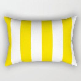Classic Cabana Stripe in Lemon Yellow + White Rectangular Pillow