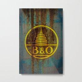 Baltimore and Ohio Railroad Dome Logo Metal Print