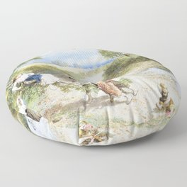 Myles Birket Foster - The Swing - Digital Remastered Edition Floor Pillow