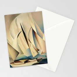 Pertaining to Sailing Yachts and Yachting by Charles Sheeler Stationery Cards