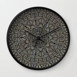 Circle of Life Mandala Brown and Blue Wall Clock