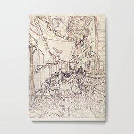 Cafe Terrace at Night (sketch) Metal Print