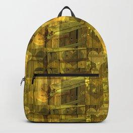 Green Heart Pattern Backpack
