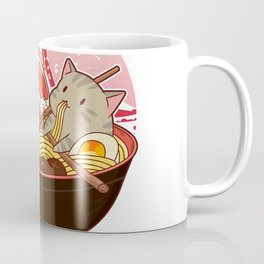 kitty ramen nightime Coffee Mug