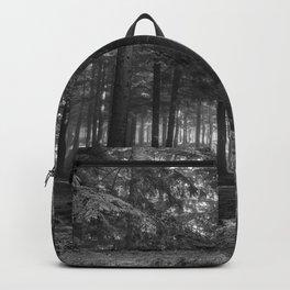 Black and white forest - North Kessock, Highlands, Scotland Backpack