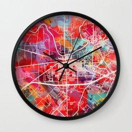 Rosenberg map Texas TX 2 Wall Clock