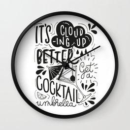 Cocktail Umbrella Wall Clock