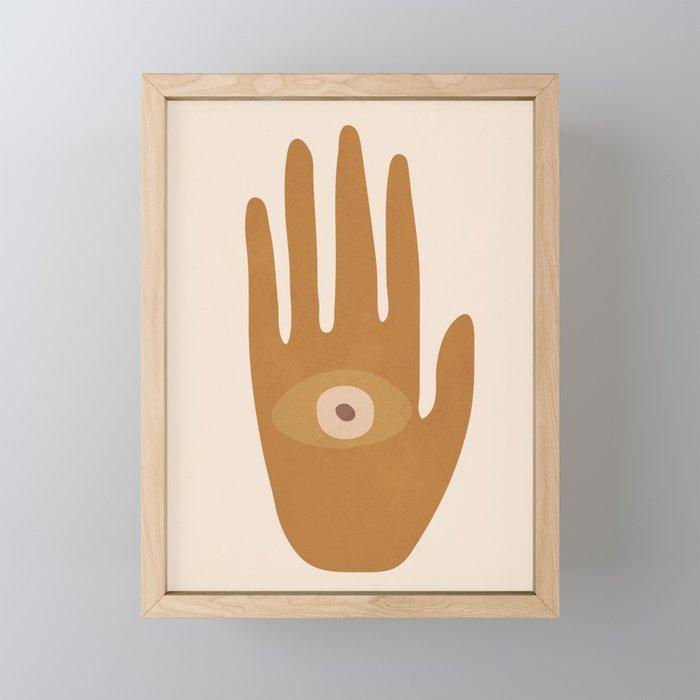 Hamsa Hand Framed Mini Art Print