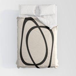 Interlocking Two A - Minimalist Line Abstract Comforters