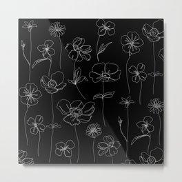 Botanical illustration drawing - Botanicals Black Metal Print