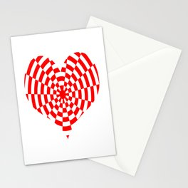 Monochrome Daze Red Heart Stationery Cards
