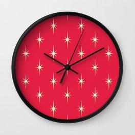 Vintage Christmas hand drawn illustration pattern 96 Wall Clock