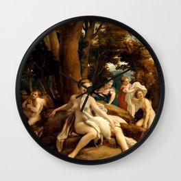 """Antonio Allegri da Correggio """"Leda and the Swan"""" Wall Clock"""