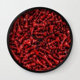 Bloody chess Wall Clock