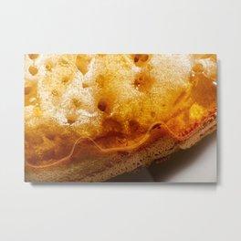 Macro photo of a toasted crumpet Metal Print