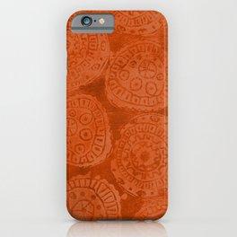 Tribal Terracota Rounds iPhone Case