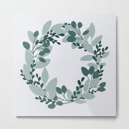 Eucalyptus Wreath Metal Print