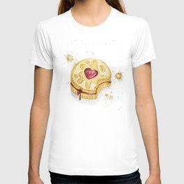 Jammy Dodger Watercolour Paint Splashes Art Print T-shirt