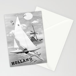 retro monochrome Holland Stationery Cards