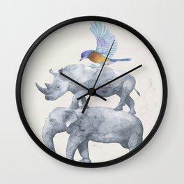 African Wildlife Wall Clock