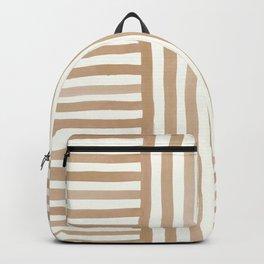 Silk Weave in Tan Backpack