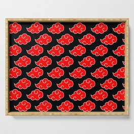 Akatsuki Clouds - Red Serving Tray