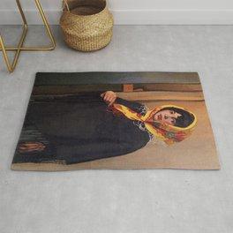 Felix Vallotton - Jeune femme au foulard jaune Rug
