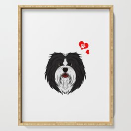 Love Havanese Dog Owner Paw Heart Gift Serving Tray