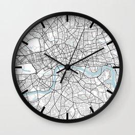 London City Map of England - Circle Wall Clock
