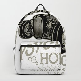 Psychobilly Hot Rod Vintage Garage Backpack